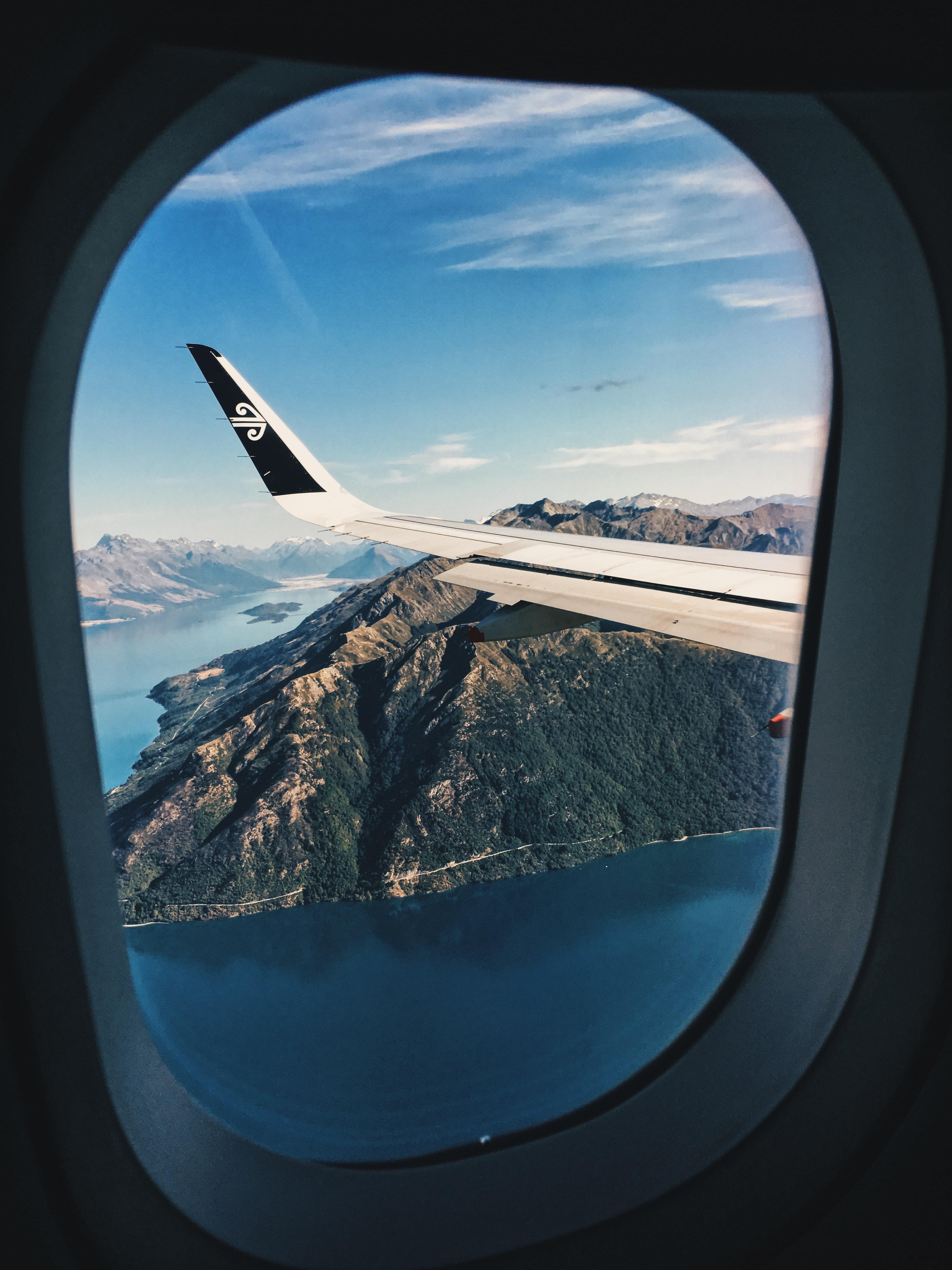 White Airplane Window Free Stock Photo