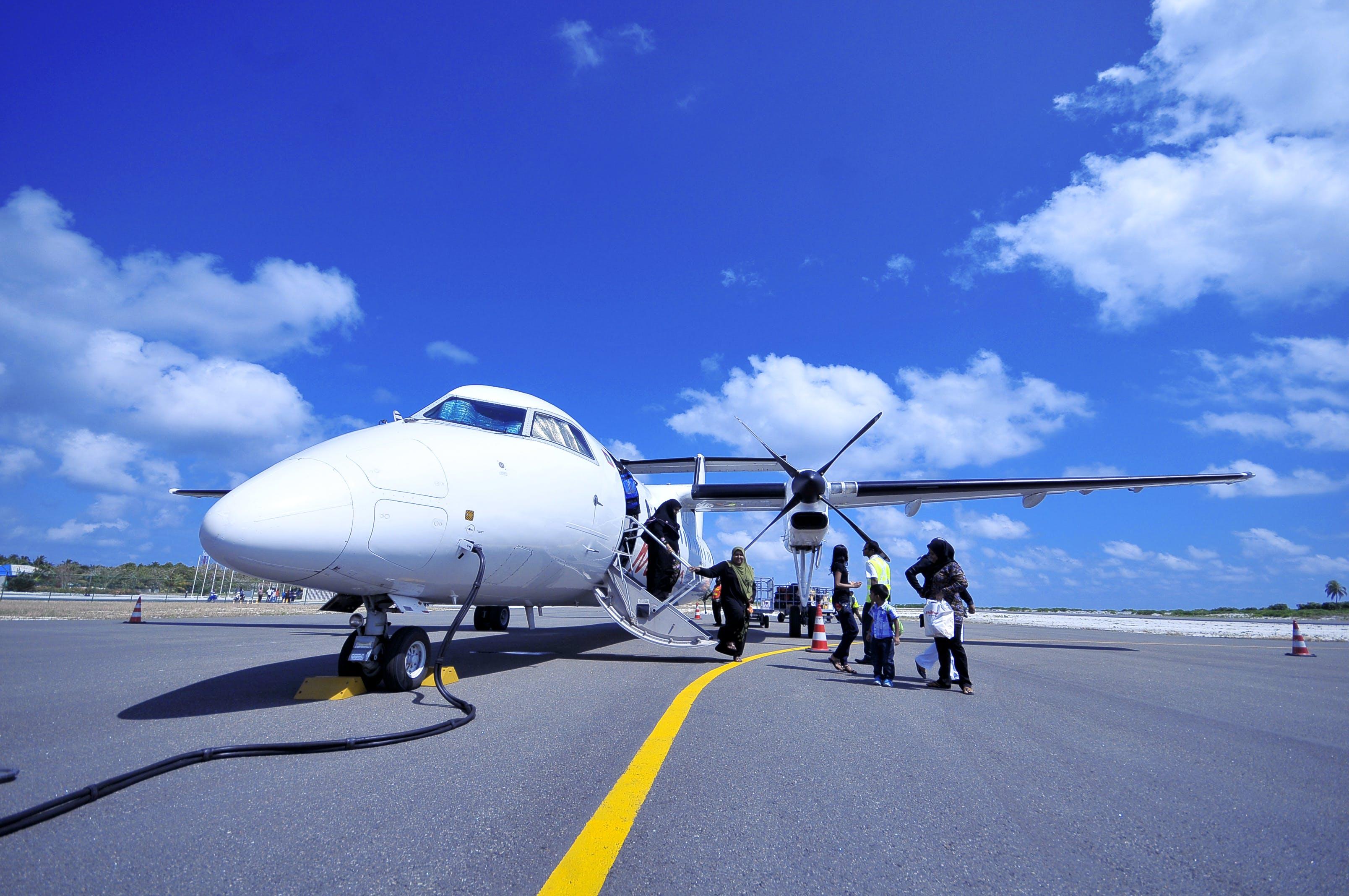 White Jet on Black Tarmac