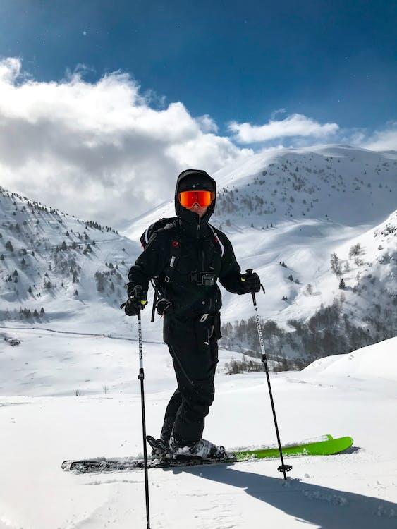 Person Riding Ski Board