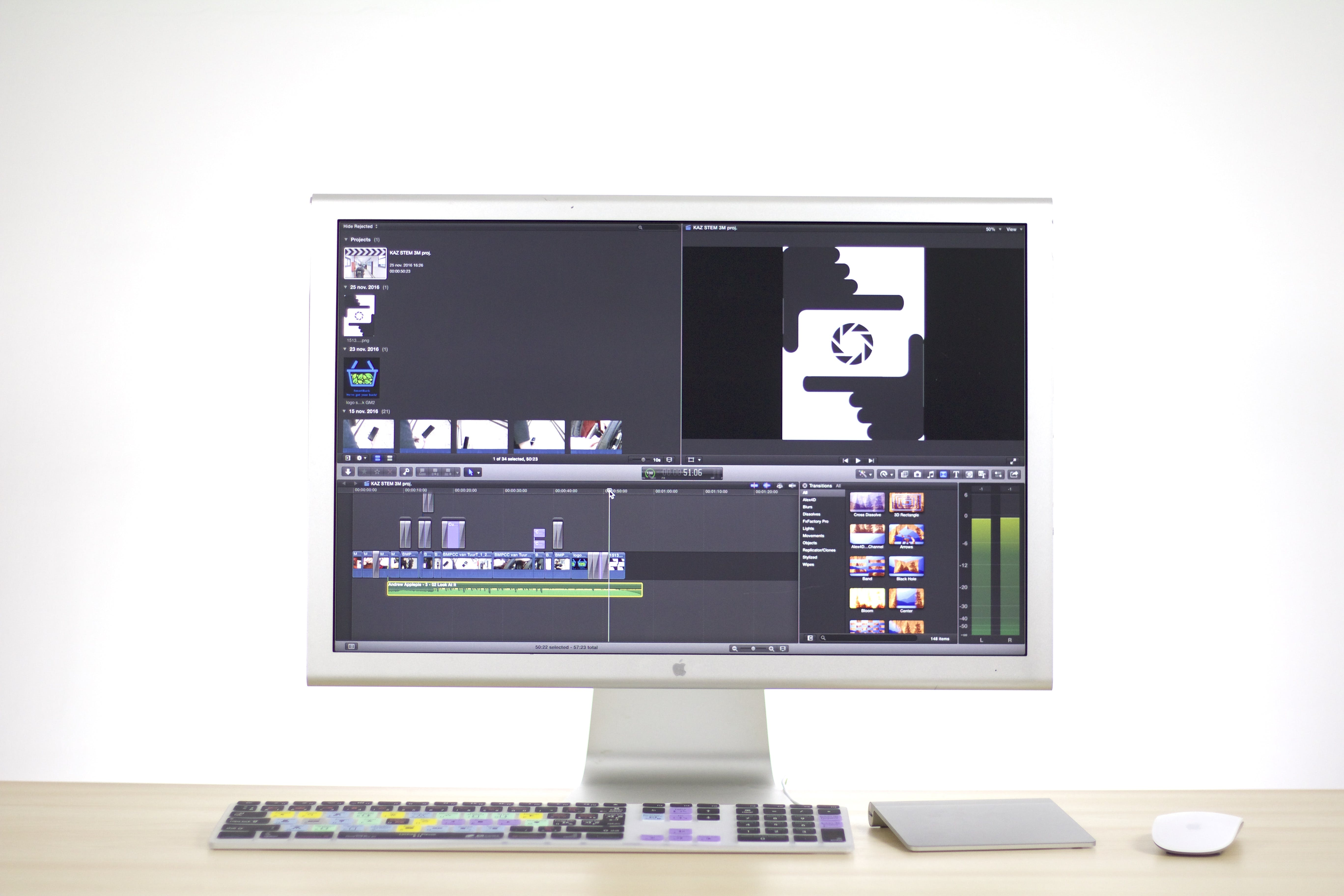 Imac Showing Editing Software