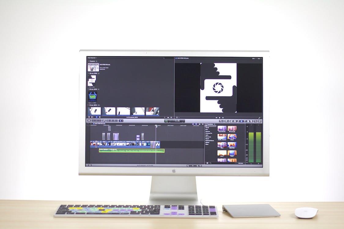 Imac Showing Editing Software