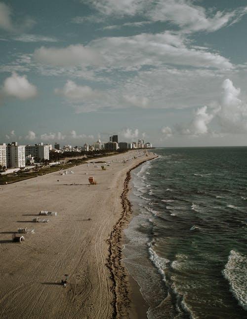 Ảnh lưu trữ miễn phí về bắn từ trên không, biển, bờ biển, cát