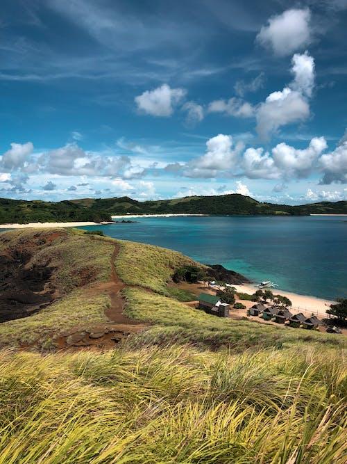 Бесплатное стоковое фото с берег, вид, голубое небо, гора