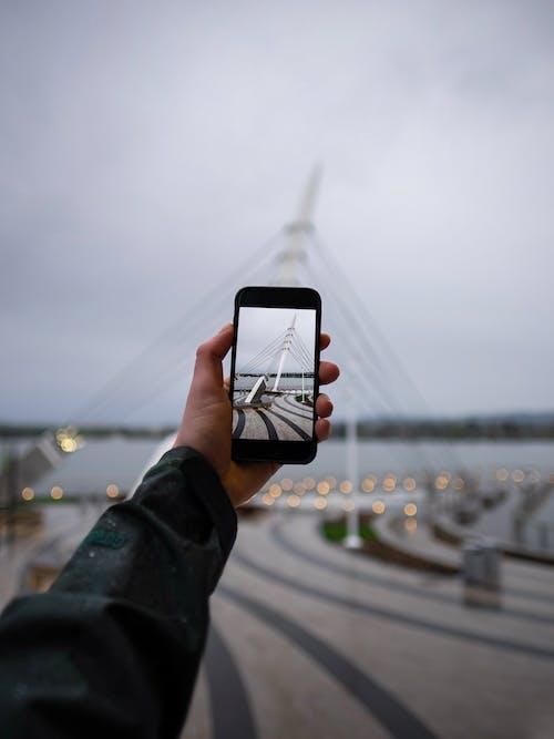 Darmowe zdjęcie z galerii z ekran, makro, most, robienie zdjęcia