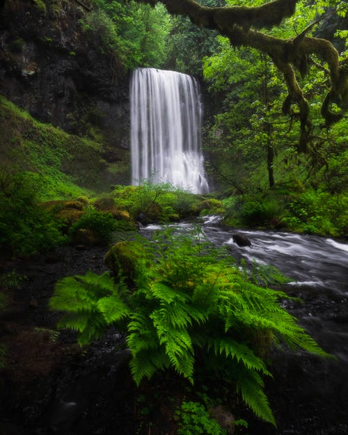 Time-Lapse Photography of Waterfall