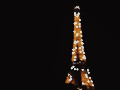 คลังภาพถ่ายฟรี ของ กลางคืน, ปารีส, ฝรั่งเศส, หอไอเฟล