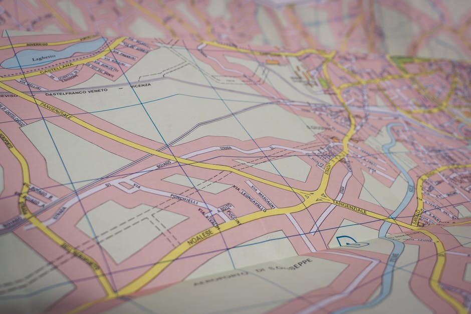 Close-up Photo of Map