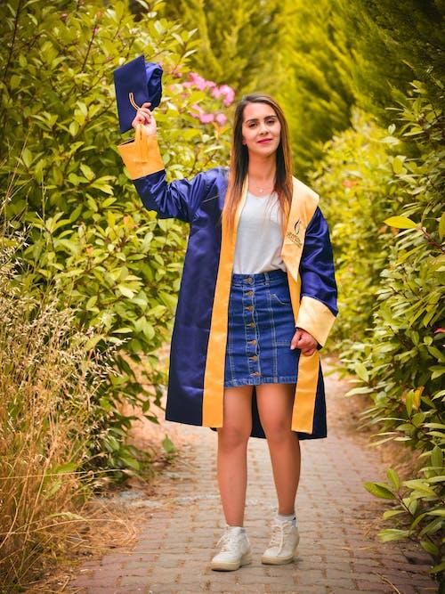 Δωρεάν στοκ φωτογραφιών με αποφοίτηση, απόφοιτος, γυναίκα, καπάκι βαθμολόγησης