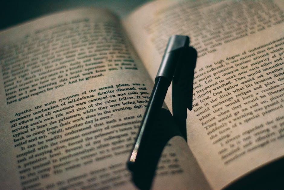 Black pen on book