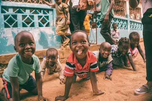 アフリカの子供たち, キッズ, グループ, スマイルの無料の写真素材