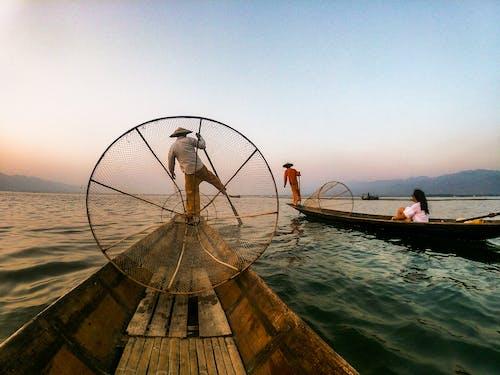 Kostnadsfri bild av båtar, dagsljus, fiskare, gryning