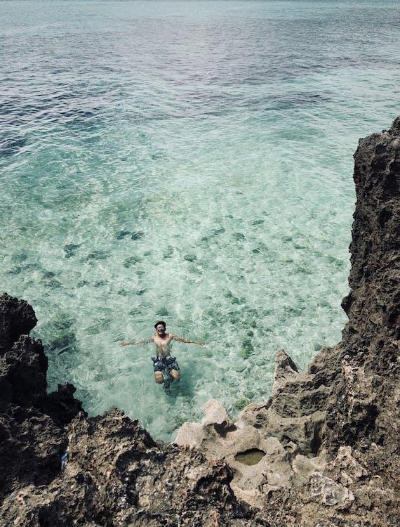 atlet, bølger, dagslys