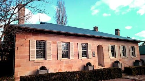 Základová fotografie zdarma na téma modrá, obloha, obloukový vchod, okna