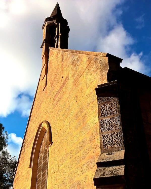 církev, pískovec, věže