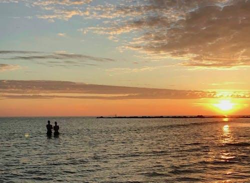 Fotobanka sbezplatnými fotkami na tému pláž, Severné more, východ slnka