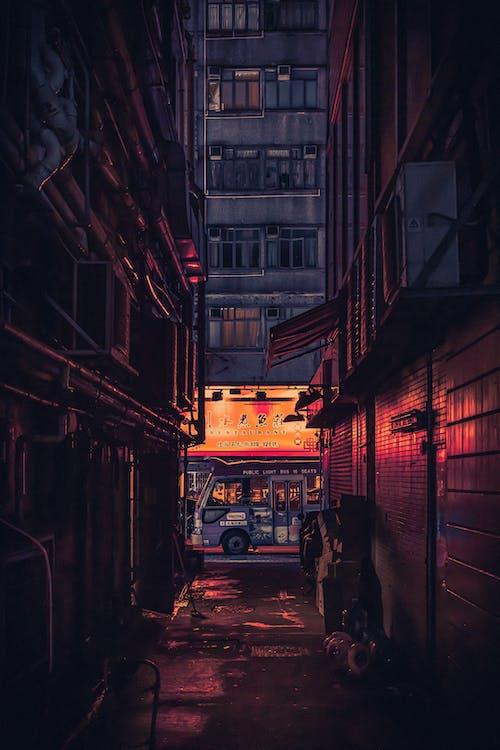 architektur, drinnen, dunkel
