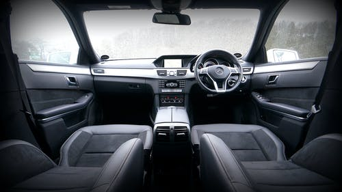 Black and Gray Vehicle Interior