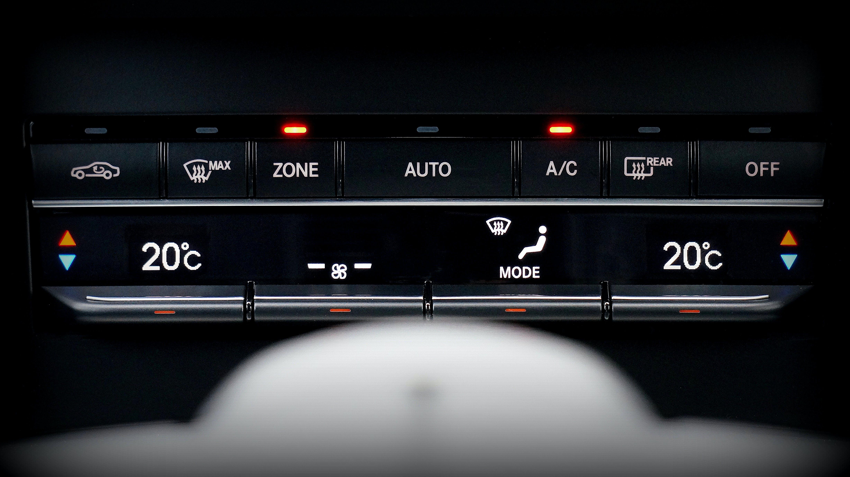 Black Vehicle Control Panel Turned-on