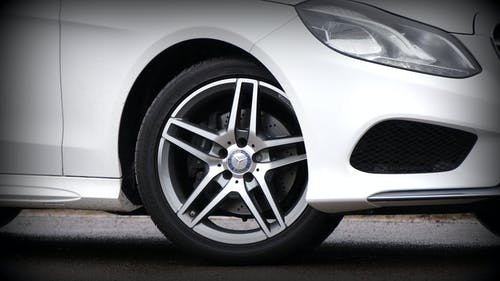 White Mercedes-benz 5-spoke Wheel and Tire