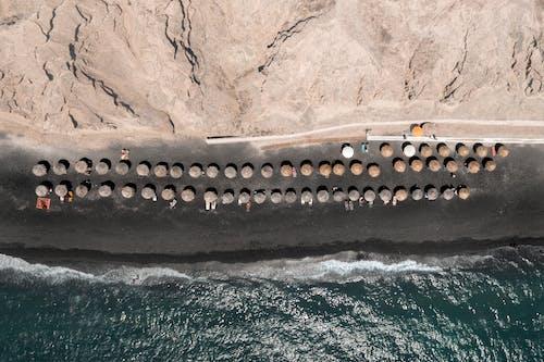 Gratis arkivbilde med flyfoto, fugleperspektiv, hav, havkyst