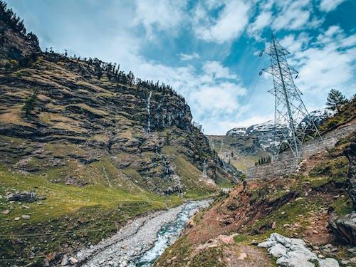 Fotos de stock gratuitas de al aire libre, líneas eléctricas, montaña, paisaje