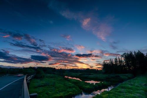 Ingyenes stockfotó gyönyörű táj, naplemente, tájkép témában