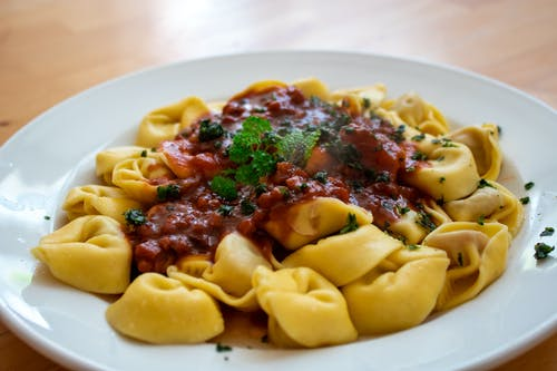 Close-Up Photo of Tortellini