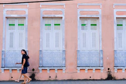 シティ, ピンク, 前面, 通りの無料の写真素材