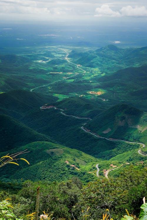 경치, 계곡, 녹색, 도로의 무료 스톡 사진