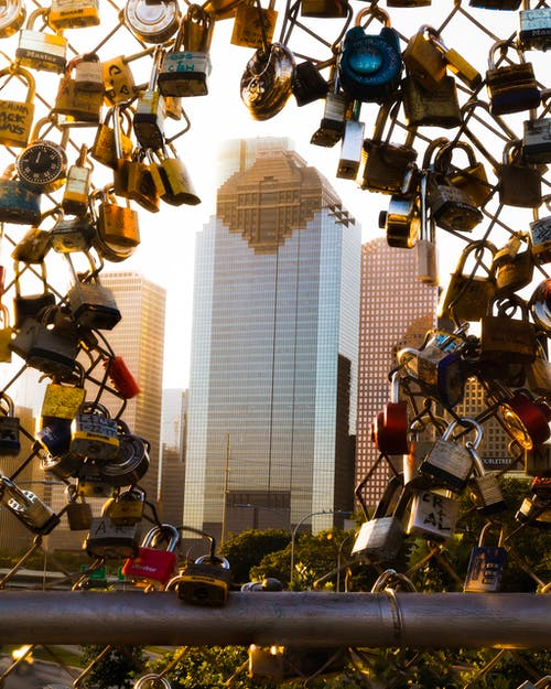 Close-up Photography of Assorted-color Padlocks