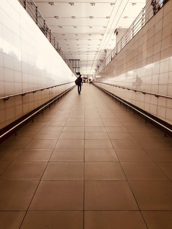 architettura, camminando, corridoio