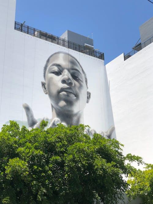 涂鸦城市景观, 街頭藝術 的 免费素材照片