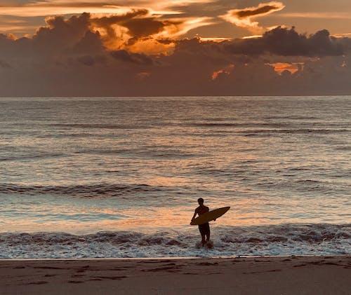 Ảnh lưu trữ miễn phí về áo ngực trần, biển, bình minh, bờ biển