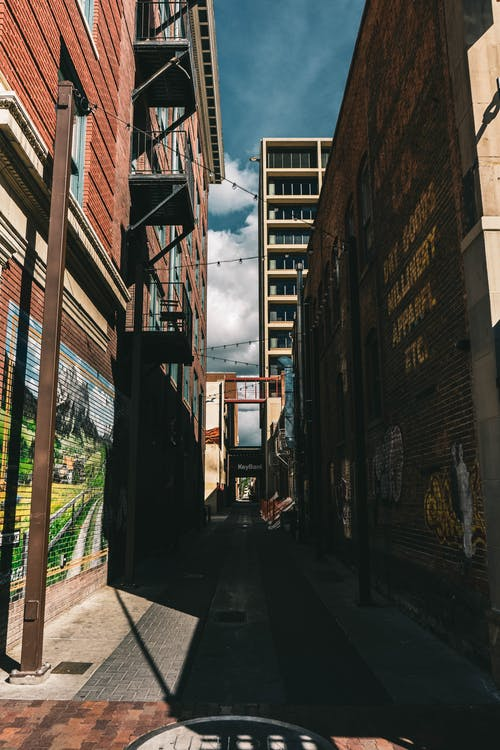 Free stock photo of alley, murals