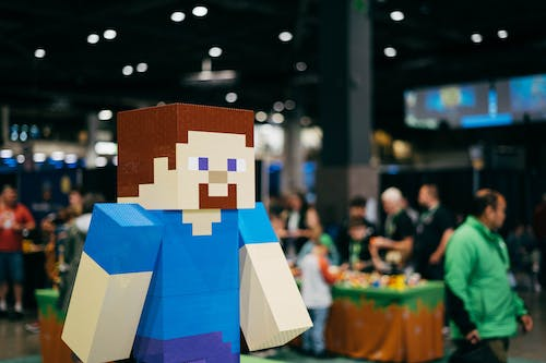 Free stock photo of convention, minecraft, steve