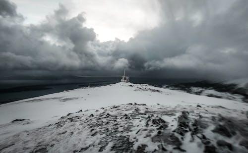 cloudscape, グレースケール, コールド, スカイスケープの無料の写真素材