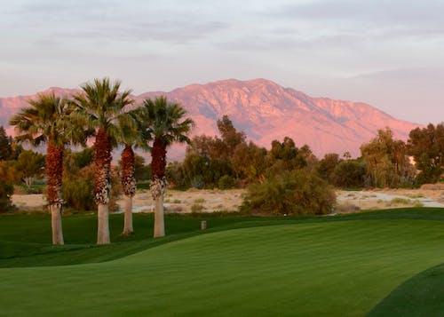Immagine gratuita di alba, corso di golf, montagne, montagne di san jacinto