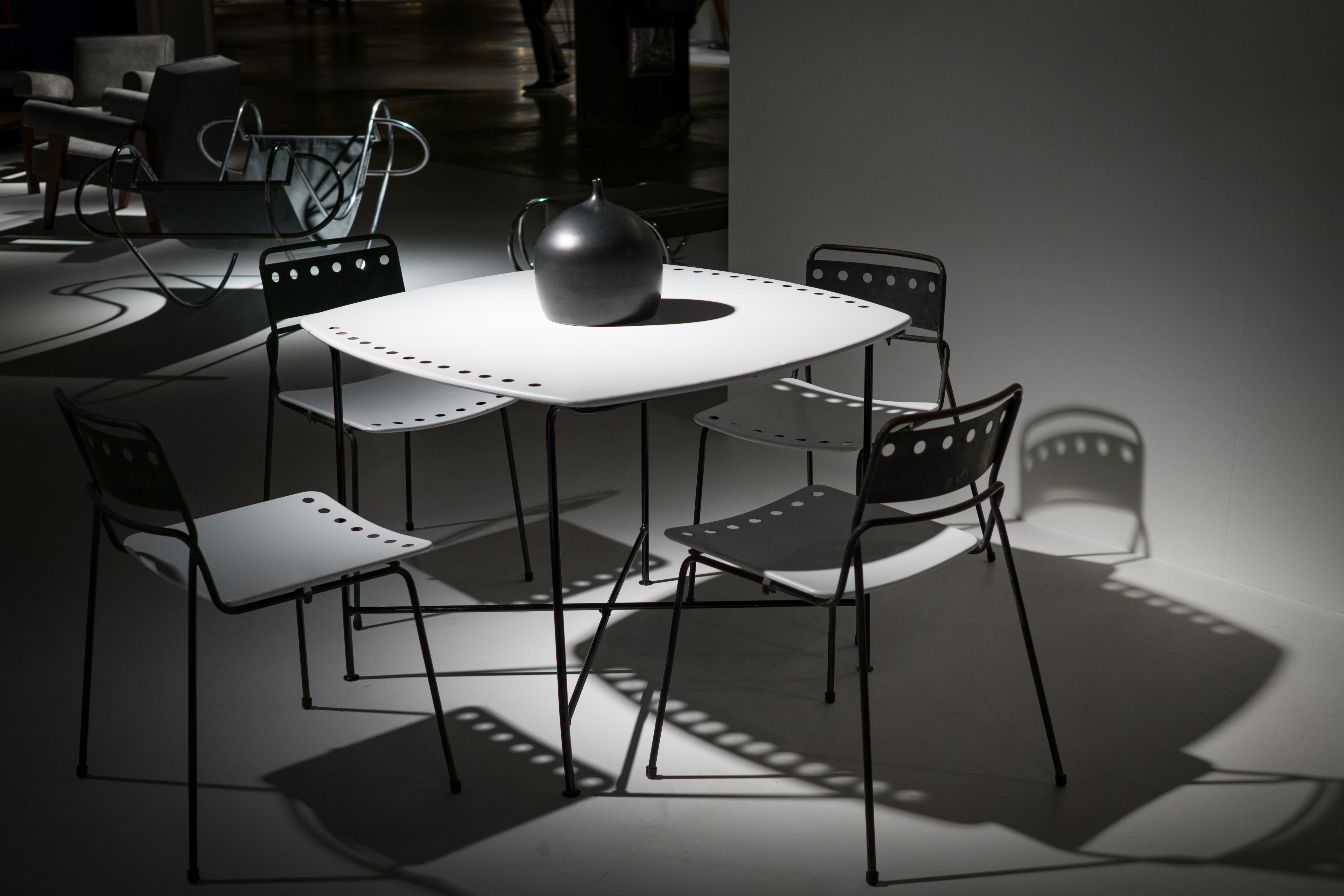 Free stock photo of light, black-and-white, desk, table