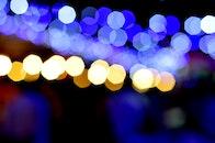 lights, night, bokeh