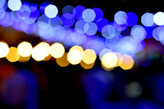 Free stock photo of lights, night, bokeh, blurred