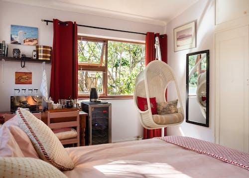Základová fotografie zdarma na téma design interiéru, ložnice, místnost, nábytek