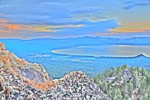 Immagine gratuita di castle rock, lago tahoe, pista da rimorchio, pittura hdr