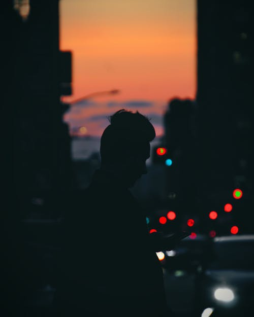 Silhouette Of Man During Dawn