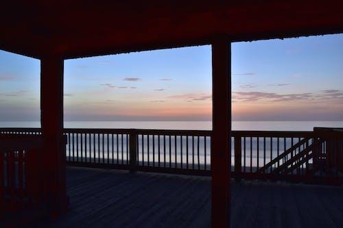Foto stok gratis hdr, matahari terbit, pantai, trotoar