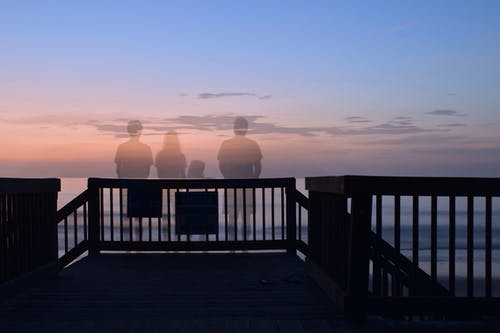 Foto stok gratis hantu, langit, matahari terbit, pantai