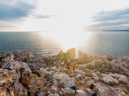 Gratis arkivbilde med daggry, hav, havkyst, klippe