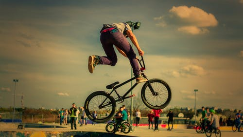 Man Riding Bmx Bicycle