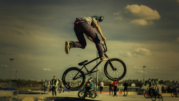 Free stock photo of man, person, sport, bike