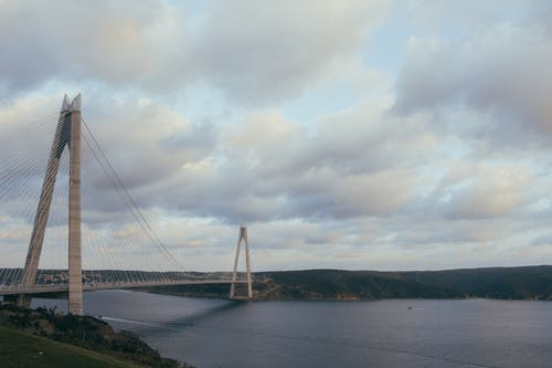 Photography of Gray Suspension Bridge