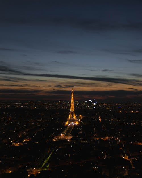 Photo of Paris Cityscape With The Eiffel Tower During Night Time